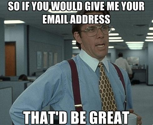 Yhteystietojen kerääminen - Sähköpostilista