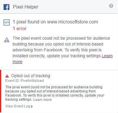 Markkinoinnin työkalut - Facebook Pixel Helper