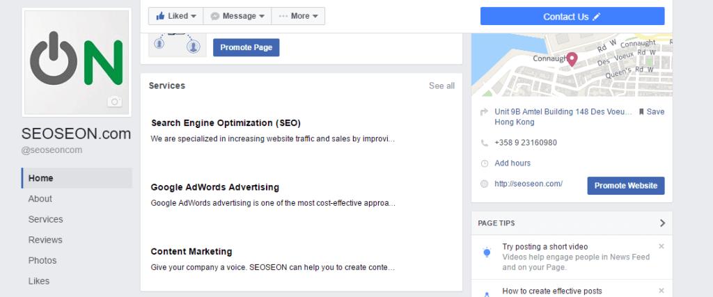 Yrityksesi palvelut ovat nyt näkyvämmin esillä Facebook sivullasi