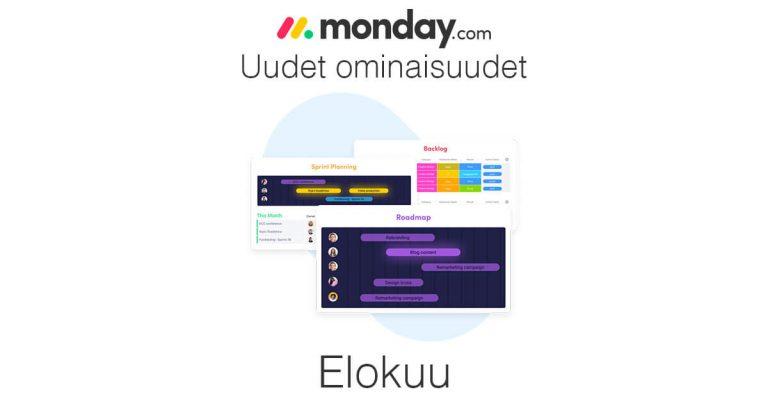 monday.com elokuun uudet ominaisuudet