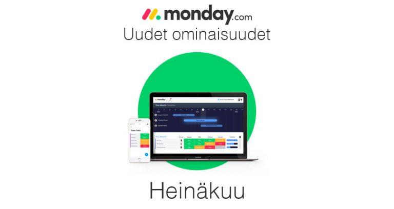 monday.com heinäkuun uudet ominaisuudet