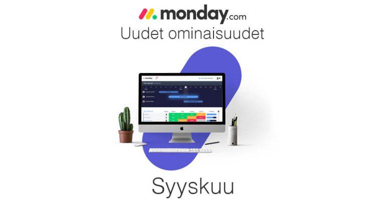 monday.com syyskuun uudet ominaisuudet